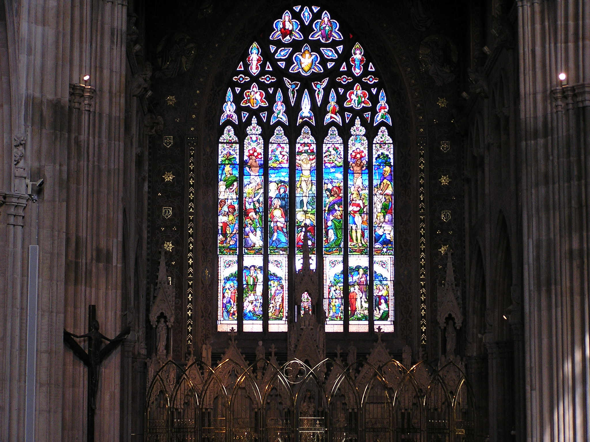 Church window at St Patrick's Cathedral in County Armagh, N. Ireland